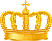 Golden crown. In  format on white background Royalty Free Stock Photos