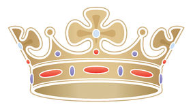 Golden crown / illustration Royalty Free Stock Images