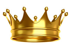 Golden crown illustration. Illustration of a golden crown isolated on white background