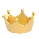 Golden crown isolated Royalty Free Stock Image