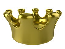 Golden crown isolated on white Stock Photos
