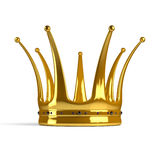 Golden crown. Isolated on a white background Stock Photography