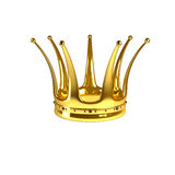 Golden crown. Isolated on a white background Stock Image