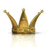 Golden crown isolated on a white background Stock Photography