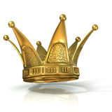Golden crown isolated Stock Photo