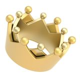 Golden crown isolated on white Royalty Free Stock Photos