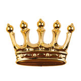 Golden crown isolated on white. Top view of golden crown isolated on white background royalty free stock images