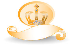 Golden Crown Logo Royalty Free Stock Images