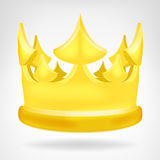 Golden crown object isolated Stock Photography