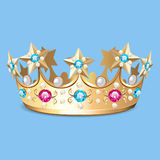 golden crown with pearls. Crown as a design el Royalty Free Stock Photos