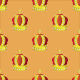Golden Crown Seamless Pattern Royalty Free Stock Photo