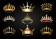 Golden Crown set Stock Image