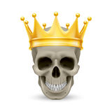 Golden crown on the skull Royalty Free Stock Photo