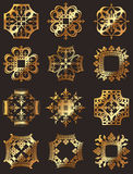 Golden Crown Symbols Royalty Free Stock Images