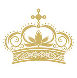 Golden crown. In vector format on white background Royalty Free Stock Photo