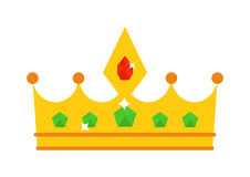 Golden crown vector illustration. Royalty Free Stock Photos