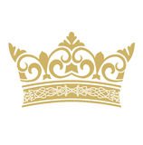 Golden crown in vectors Stock Images