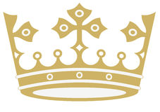Golden crown in vectors. Golden crown in vector format on white background Stock Photo