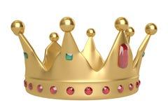 Golden crown on white background. 3D illustration. Golden crown on white background. 3D illustration royalty free illustration