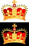 Golden crown1. Vector illustration of the golden crown Royalty Free Stock Photography
