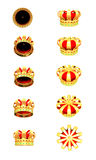 Golden Crowns. On white background vector illustration