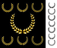 Golden crowns. Nice golden crowns vector collection Royalty Free Stock Photography
