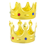 Golden crowns Stock Images