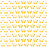 Golden crowns pattern Royalty Free Stock Photos