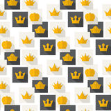 Golden Crowns pattern Stock Image