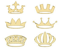 Golden crowns stock image