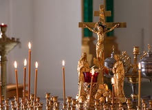 Golden crucifix Royalty Free Stock Image