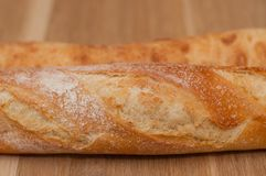 Golden crust of French loaf and ciabatta stock photo