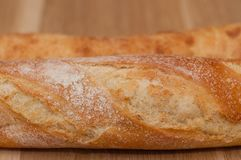 Golden crust of French loaf and ciabatta royalty free stock photography