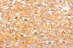 Golden crystal Royalty Free Stock Photo