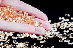 Golden crystal Stock Photography