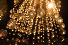 Golden crystal, abstract background for party, event. Christmas Royalty Free Stock Photo