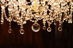 Golden Crystal chandelier Royalty Free Stock Images