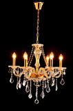Golden Crystal lighting,chandelier,lamp,light Stock Photography
