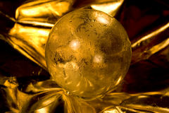Golden crystall ball Stock Photo