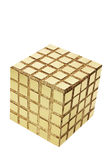 Golden Cube Royalty Free Stock Image