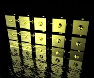 Golden Cubes Royalty Free Stock Images