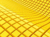 Golden cubes. 3d abstract background Royalty Free Stock Images