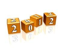 Golden cubes 2012 Stock Image