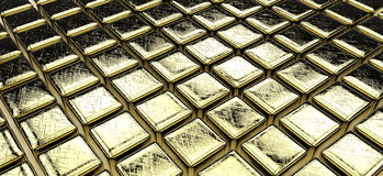 Golden cubes Stock Images