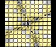 Golden cubes Royalty Free Stock Photos