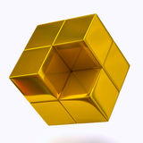 Golden cubes Stock Photography