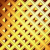 Golden cubes abstract futuristic background. 3d render illustration Royalty Free Stock Images