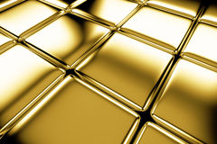 Golden cubes flooring diagonal view Stock Image