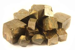 Golden cubes Royalty Free Stock Photo