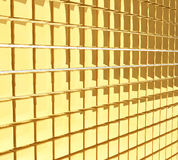 Golden cubes wall Stock Image